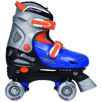 Chicago Boy's Adjustable Quad Skate, Blue/Silver, Small [並行輸入品]