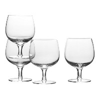 Mikasa Stacking Wine Glass (Set of 4), 12.5 oz, Clear [並行輸入品]