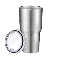 Vanpo Stainless Steel 30 oz Tumbler Big Drinking Cup Travel Cup Silver by Vanpo