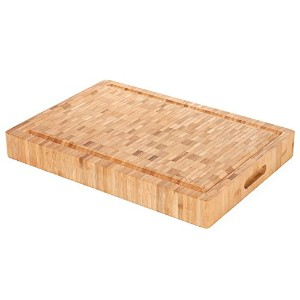 Heim Concept 1PC Premium Large [17 x 12 x 2] Organic Bamboo Butcher Block Chopping Board Cutting...