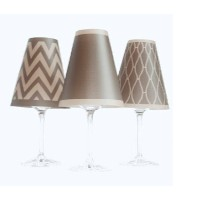 Morocco 6 Piece Wine Shade Set (Set of 2) Finish: Brown/Gold [並行輸入品]