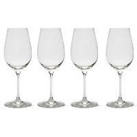 Tag 202441 Bella Wine Glasses, 14-Ounce, White Set of 4 [並行輸入品]
