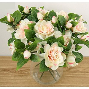 Linyuan 安定した品質 10x Artificial Camellia Silk Flower Blossom Bouquet Home/Office/Party Decoration