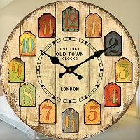 "LOVE(TM)12-inch Wall Clock ""London Old Town"" Shabby Chic Retro Style for Home Livingroom Bedroom..."