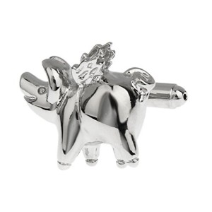 mrcuff Pig Flying When Pigs Fly Cufflinks with aプレゼンテーションギフトボックス