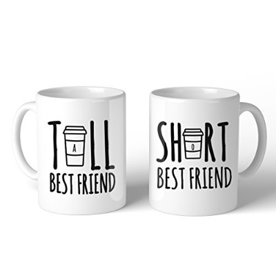 365 Printing Tall And Short Best Friend BFF Mugs Christmas Birthday Gifts