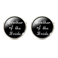 花嫁のスチームパンクBrother Cuff Links Mens Cufflinks Wedding Groomsmenブラックandホワイト