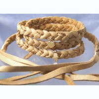 One of A Kind 【革紐】ブレスBraided Wrap BBC322BE