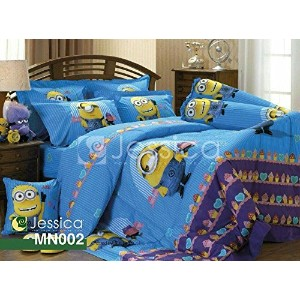 Minions Official Licensed Bed Sheet Set - Fitted Sheet, Pillow Case, Bolster Case (Not Included...