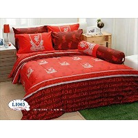 Liverpool Football Club Official Licensed Bed Sheet Set, Fitted Sheet, Pillow Case, Bolster Case ...