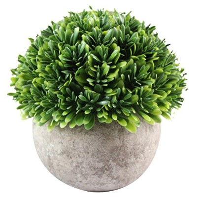 Zhhlinyuan Artificial Potted Plant for Home Decor Flowers and Grass