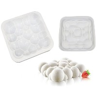 New Arrival Baking White Silicone Cloud Shaped Mousse Cake Mould Create Delicious Homemade Breads,...