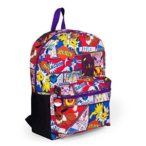 "Pokemon Large 16 "" Comic Print Front Pocketバックパック – Kids"