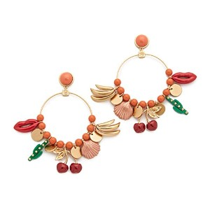 [トリーバーチ]TORY BURCH Sylvan Charm Hoop Earrings [並行輸入品]