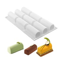 New Arrival White Silicone Roll Non-Stick Mold Log Delicate Chocolate Desserts Twinkie Tea-time...