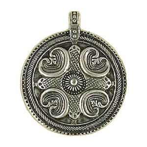 Viking Amulet Pewter Pendant withコードネックレス