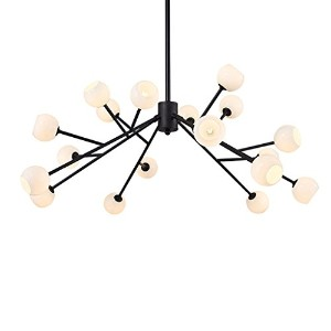 YJH Branch Type Chandelier, Creative Living Room Restaurant Art Glass Spider Chandelier Molecular...