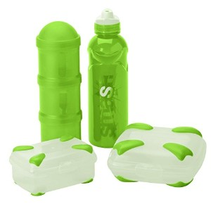 High Qualityash Rubbish Free Lunch Kit with Sandwich Box, Snack Box, Stealth Water Bottle, & Triple...