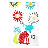 High Quality 100% Cotton Oversized Designer Kitchen Towel, 20 by 30-Inches, Fox