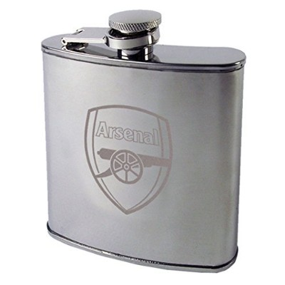 Arsenal F.c Chrome Hipflask
