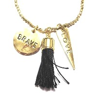 CAT HAMMILL ネックレス Long charm tassel necklace gold
