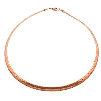EDFORCE Stainless Steel Rose Gold-Tone Classic Choker Necklace