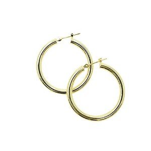 K18 ゴールド フープピアス 3x30mm 2.2g K18 gold hoop earrings 3x30mm 2.2g