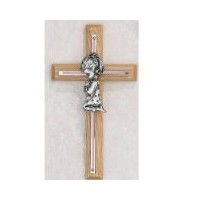 7 PINK OAK GIRLS WALL CROSS BABY INFANT CHRISTENING BAPTISM SHOWER by McVan, Inc.