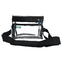 Small Heavy Duty Clear Lunch Bag Black Trim by The Clear Bag Store