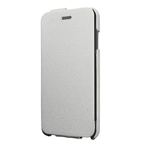 iBUFFALO iPhone6s / iPhone6 縦開きレザーフラップケース 保護フィルム付 ホワイト BSIP14CLVWH