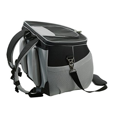 One for Pets The EVA Pet Carrier Backpack, Large, Black by One for Pets