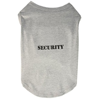 Mirage Pet Products 51-48 XXLGY Security Screen Print Shirts Grey with black text XXL - 18