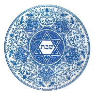 Spode Judaica Round Challah Tray by Spode