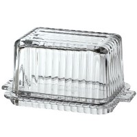 Anchor Hocking Fire-King Beveled Glass Butter Dish by Anchor Hocking