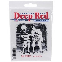 "Deep Red Cling Stamp 3""X3""-Old Friends (並行輸入品)"