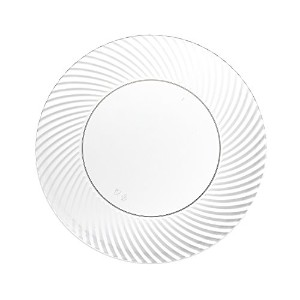 Party Essentials 24 Count Hard Plastic 6 Dessert/Appetizer Plates with Swirled Rims, Clear by Party...