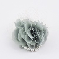 ma chere Cosette? チュールとパールのシフォンコサージュ Chaumeil tulle pearl corsage ミント