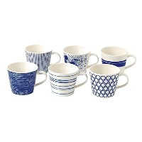 Royal Doulton Pacific Accent Mugs, Blue, Set of 6 by ROYAL DOULTON