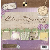 Die Cuts with a View (DCWV) ペーパースタック Chateau Lavender (48枚入)