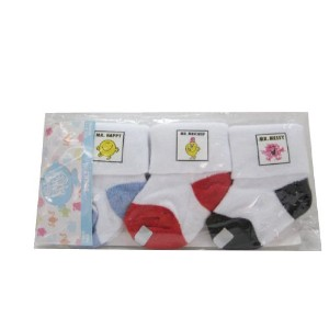 Mr. Men 0-12 Months Socks, Black/Red/Blue, by Mr Men
