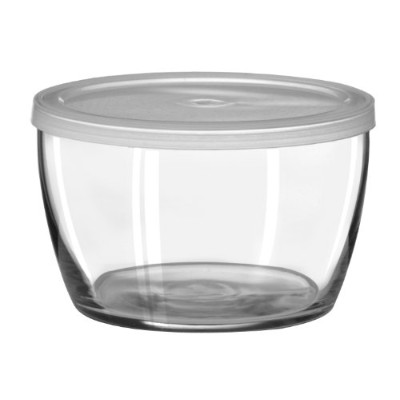 Libbey 16-Ounce Bowl with Plastic Lid, Set of 12 by Libbey