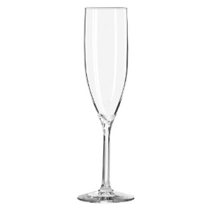 Libbey 6-Ounce Clear Domaine Champagne Flute Glass, Set of 12 by Libbey