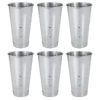 SET OF 6, 30 Oz. (Ounce) Malt Cup, Milkshake Cup, Blender Cup, Cocktail Mixing Cup, Stainless Steel...