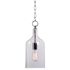 Kenroy Home 91831CLR Capri 1-Light Mini Pendant, Chrome by Kenroy Home
