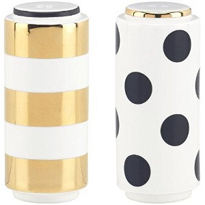 kate spade new york Fairmount Park Dot Stripe Salt & Pepper Shaker Set by Kate Spade New York