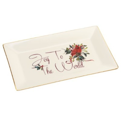 Lenox Winter Greetings Tray, Joy to the World by Lenox