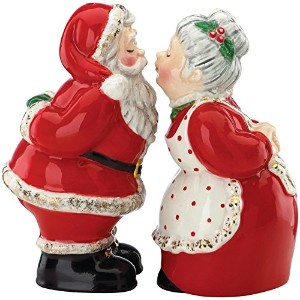 Gorham Once Upon aクリスマスサンタSalt & Pepper Set