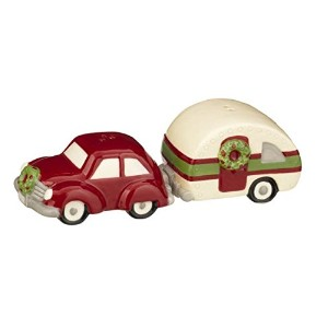 Grasslands Road Pinewood Holiday Travel Salt & Pepper Shakers S 471432-TRAILER