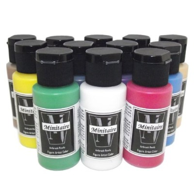 Badger Air-Brush Company Minitaire 12-Color Paint Starter Set by Badger Air-Brush Company