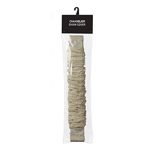 Creative Co-Op Chandelier Cord Cover, 6' Length, Bleached Jute Color by Creative Co-op